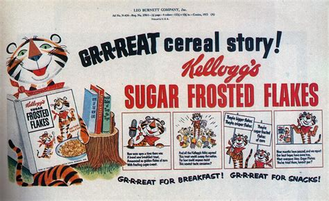 A GR-R-REAT cereal story. Early Tony The Tiger, 1050s ...
