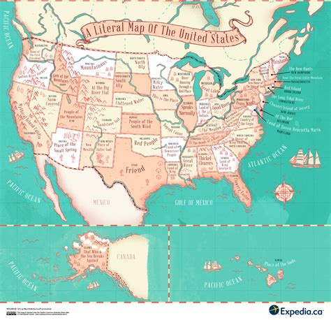A Literal Translation Of Places In The United States ...