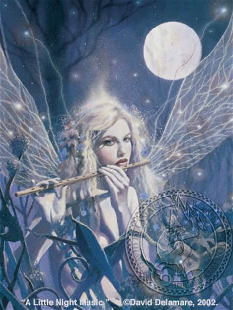 A Little Night Music: fairy painting by David Delamare ...