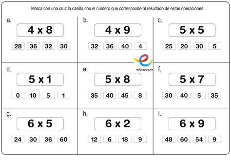 A Multiplicar !! Fichas multiplicación en primaria