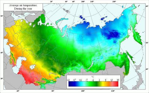 A rússia temperatura mapa - Mapa da Rússia temperatura ...