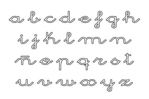 Abecedarios de letras cursivas para imprimir y colorear ...