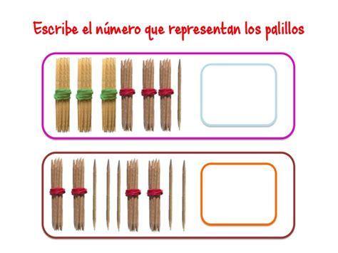 ABN Escribe el número que representan los palillos hasta ...