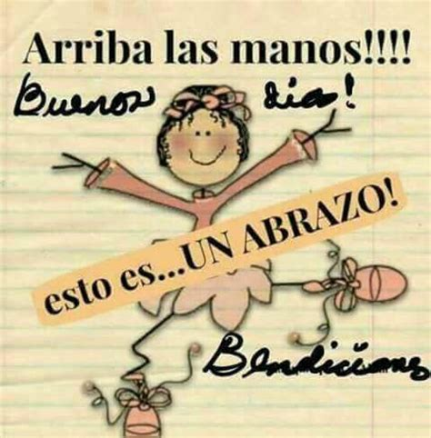 Abrazo | Buenos dias | Pinterest | Saludos de buenos dias ...