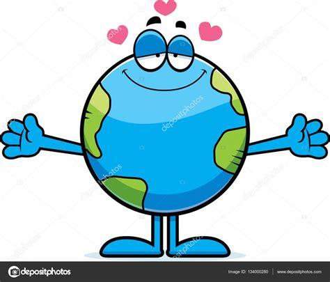 Abrazo de la tierra de dibujos animados — Vector de stock ...