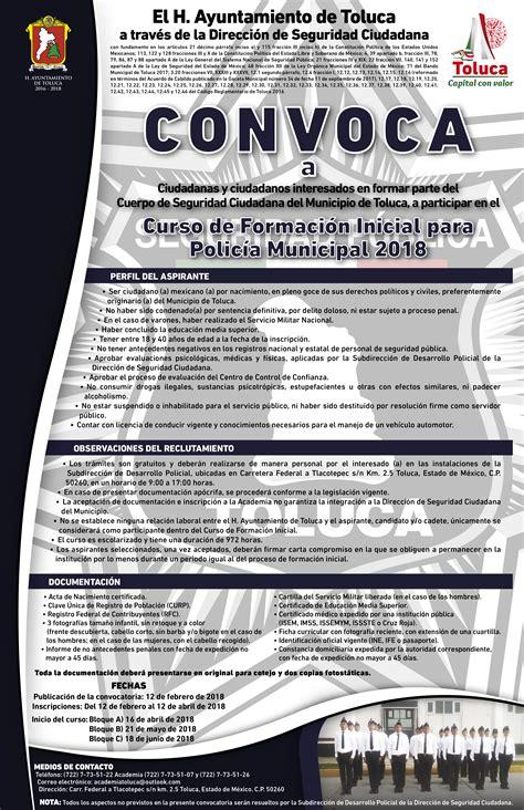 Abre Ayuntamiento de Toluca convocatoria para formar parte ...