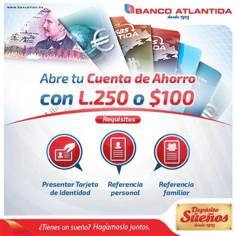 Abre tu Cuenta de Ahorros en Banco...   Banco Atlántida ...