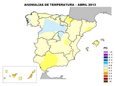 Abril de 2013 segun Aemet...