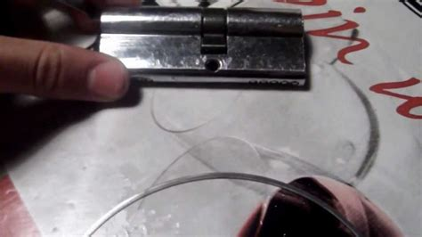 abrir cerradura sin llave - YouTube