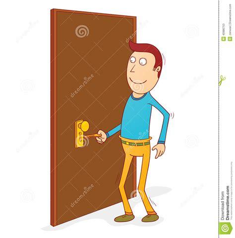 Abrir La Puerta Ilustración del Vector   Imagen: 40986753