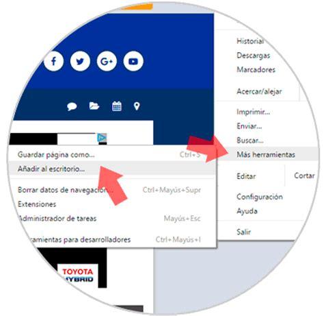 Acceso directo Pin web en escritorio o barra tareas ...