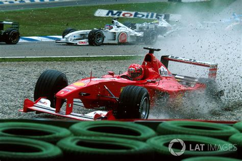 Accident de Michael Schumacher, Ferrari F1 2000   Grand ...