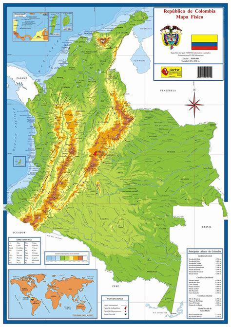 Accidentes Costeros De Colombia Mapa