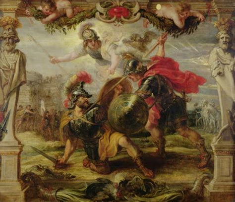 Achilles Defeating Hector, 1630 32  oil   Peter Paul Rubens