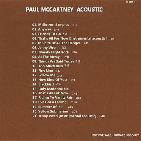 Acoustic (Unofficial album) by Paul McCartney - The Paul ...