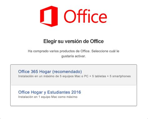 Activar Office 2016 para Mac   Office 365