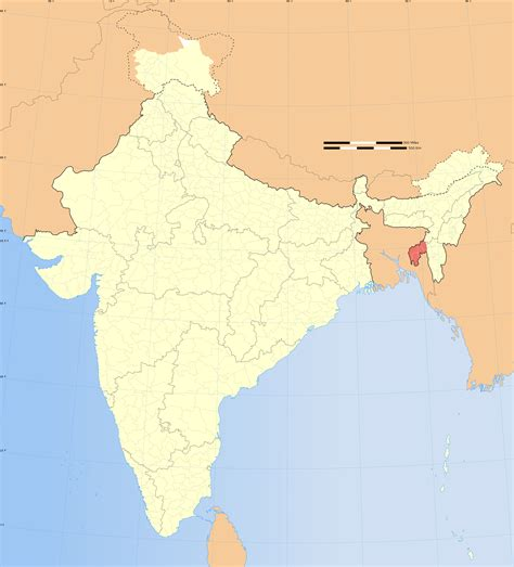 Actual Map Of India