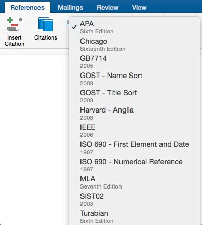Add citations in Word 2016 for Mac - Word for Mac