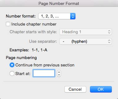 Add page numbers to a header or footer in Word for Mac ...