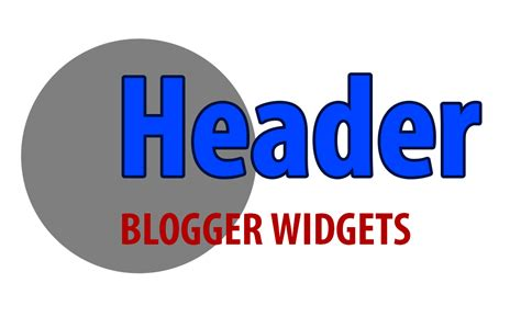 Add widgets above the header of blogger