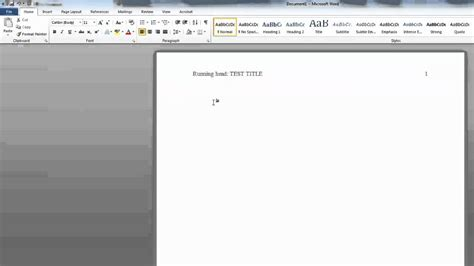 Adding Running Head and Page Numbers in APA Format in Word ...
