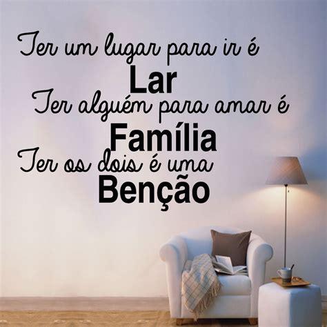 Adesivo De Parede Frase Família Benção   Fran Adesivos