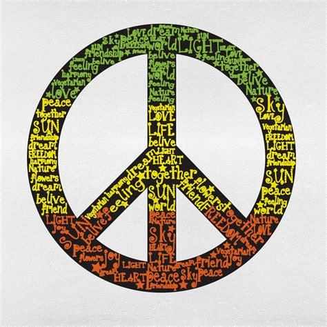 Adesivo de Parede Símbolo da Paz   Mudo Minha Casa