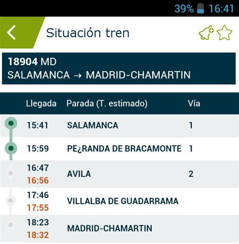 Adif en tu móvil, información de trenes en tiempo real ...