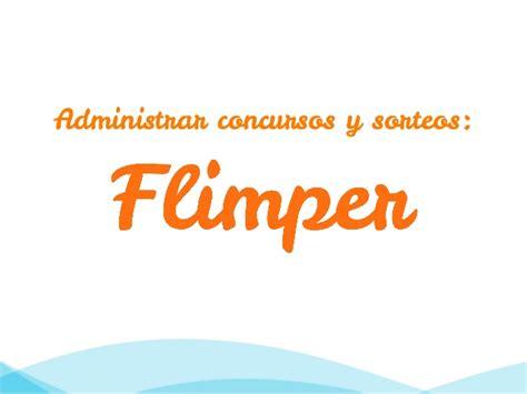 Administrar concursos y sorteos en Flimper