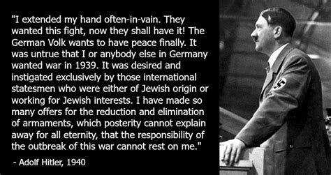 Adolf Hitler and Germany wanted Peace. Extracts from Adolf ...