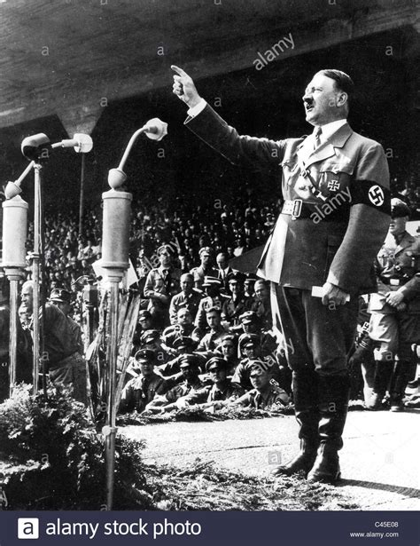 Adolf Hitler in a speech on the Nazi Party Congress, 1934 ...