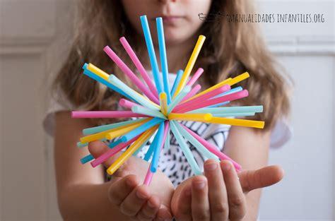 Adorno para fiestas con pajitas - Manualidades Infantiles