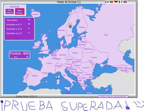 ADRINCLUSIVO: Mapa Flash Interactivo - Países de Europa