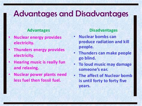 Advantages and disadvantages of nuclear power | Other