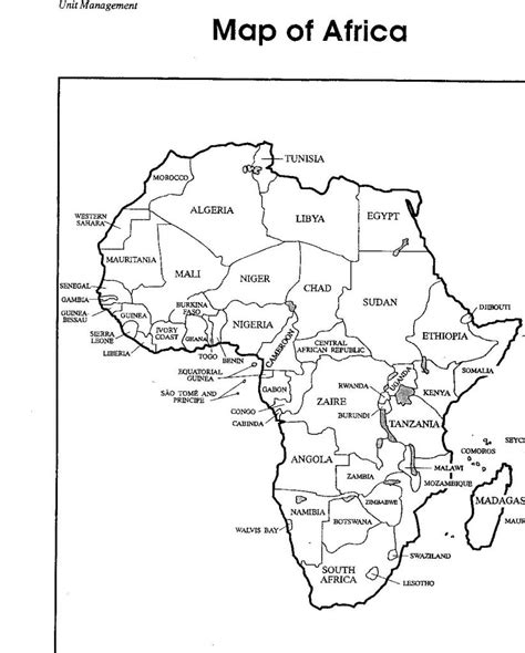 Africa Map With Country Label Coloring Pages - Education ...