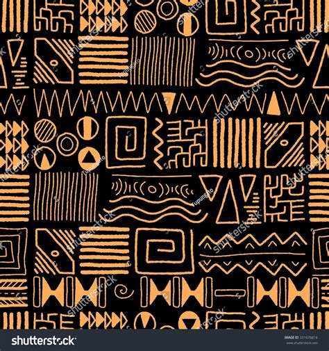 African Ethnic Pattern Tribal Art Background Stock Vector ...