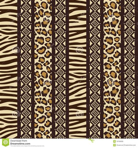 African Seamless With Wild Animal Skin Patte Stock Vector ...