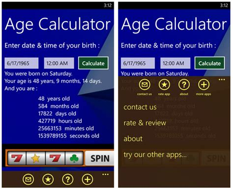 Age Calculator, a Windows Phone app that may make you feel ...