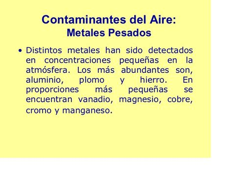 Agentes contaminantes del aire