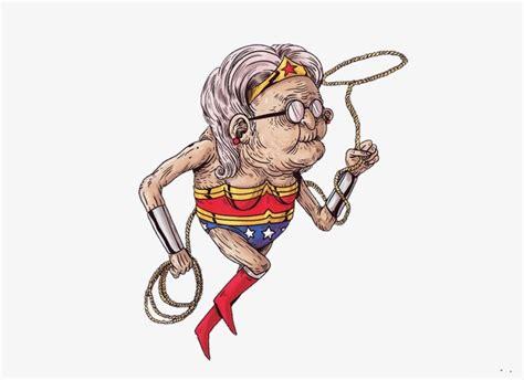 Aging Wonder Woman, Envejecimiento Superheroe, Super Hero ...