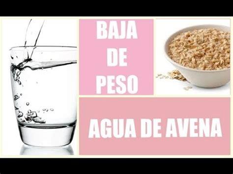 Agua de avena para bajar de peso | Cómo hacer agua de ...