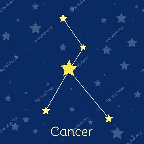 Agua de cáncer constelación zodiacal de estrellas en el ...