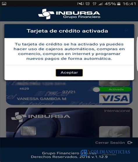 Ahora puedes activar o desactivar tu tarjeta de crédito ...