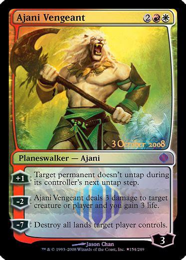 [ALA] Ajani Vengeant  Prerelease card and release card ...