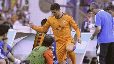 Alarma Cristiano: se retira lesionado ante el Valladolid