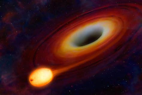 Alas en azul: Un agujero negro se traga un sol