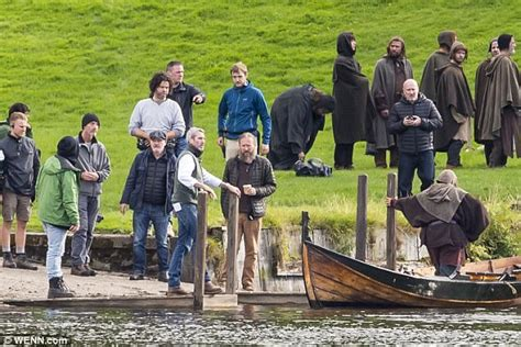 Alastair McKenzie seen filming Netflix film Outlaw King ...