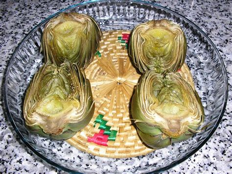 Alcachofas para dos (microondas)