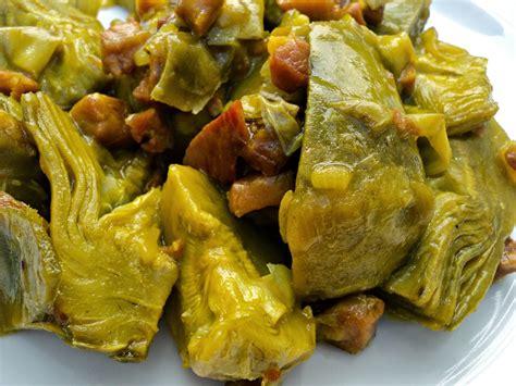 Alcachofas salteadas con jamón en el microondas