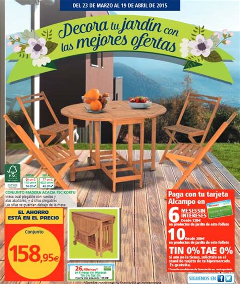 Alcampo muebles jardín: catálogo 2015